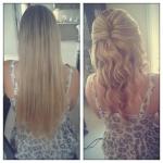 soft natural elegant curls half up