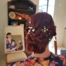 Low do bridesmaid hair